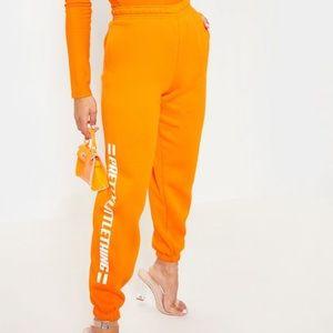 PLT Orange Joggers
